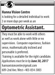 Optometric Assistant
