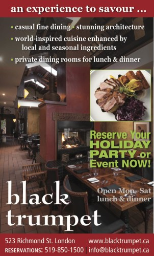 Reserve Your HOLIDAY PARTY or Event NOW at the Black Trumpet Restaurant