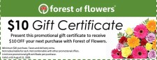 10.00 off at Forest of Flowers