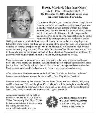Howg, Marjorie Mae (nee Olson)