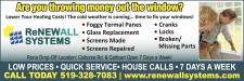 The cold weather is coming... time to fix your windows!