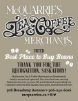 MCQUARRIES TEA & COFFEE MERCHANTS VOTED Best Place to Buy Beans