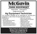 Ag Equipment Technician wanted