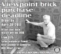 Viewpoint brick purchase deadline