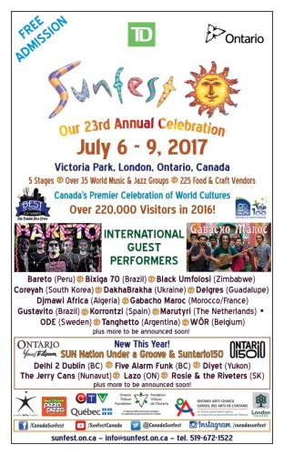 Sunfest Our 23rd Annual Celebration June 6-9, 2017