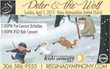Peter & The Wolf Sunday, April 2,
