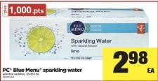 PC Blue Menu sparkling water