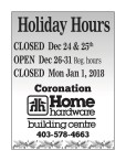 Home Hardware Holiday Hours