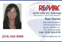 Kari Durco of REMAX Sarnia Realty