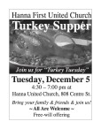"Join us for ""Turkey Tuesday"""