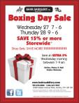 Bahr Saddlery Boxing Day Sale