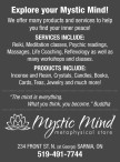 We offer many products and services to help you find your inner peace!