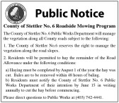 County of Stettler No. 6 Roadside Mowing Program