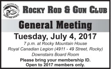 General Meeting Tuesday, July 4, 2017