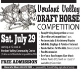 Verdant Valley DRAFT HORSE COMPETITION