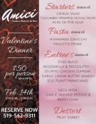 Valentine's Dinner at Dante Club