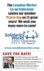 The Canadian Worker Co-op Federation salutes our member Prairie Dog on 25 great years!
