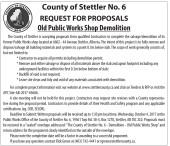REQUEST FOR PROPOSALS Old Public Works Shop Demolition