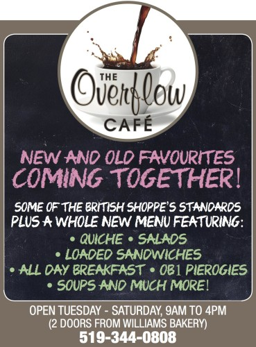 NEW AND OLD FAVOURITES COMING TOGETHER at THE Overflow CAFE