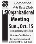 Re Organizational Meeting Sun., Oct. 15
