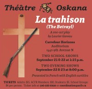 La trahison (The Betrayl): A one-act play by Laurier Gareau