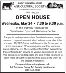 OPEN HOUSE Wednesday, May 24 7:30 to 9:30 p.m.