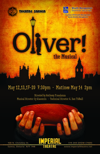 Oliver the Musical  May 12, 13, 17 – 20