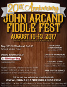 JOHN ARCAND FIDDLE FEST 20TH ANNIVERSARY