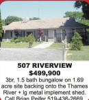 3br, 1.5 bath bungalow on 1.69 acre site