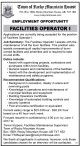 EMPLOYMENT OPPORTUNITY  FACILITIES OPERATOR I