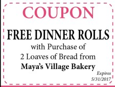 FREE DINNER ROLLS with Purchase of 2 Loaves of Bread