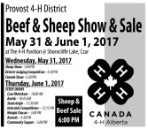 Beef & Sheep Show & Sale  May 31 & June 1, 2017
