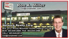 Ron A. Miller CELL: 403-845-8010