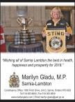 Wishing all of Sarnia Lambton the best in health, happiness and prosperity for 2018.