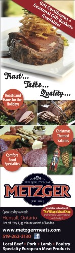 Gift Certificates + Seasonal Gift Baskets Available at Metzger Meat Products