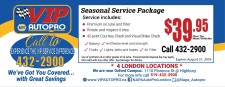 VIP Autopro  Seasonal Service Package