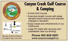 Canyon Creek Golf Course & Camping  • 9 Hole Golf Course