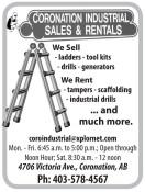 We Sell - ladders - tool kits - drills - generators