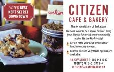 Thank you citizens of Saskatoon! CITIZEN  CAFE & BAKERY
