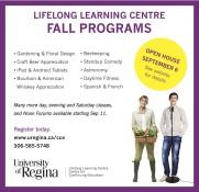LIFELONG LEARNING CENTRE FALL PROGRAMS