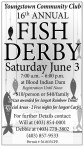 Youngstown Community Club  16th ANNUAL FISH DERBY  Saturday June 3