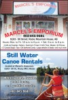 Rent canoes, kayaks, pedal boats, and paddle boards