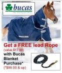Get a FREE lead Rope with Bucas Blanket Purchase