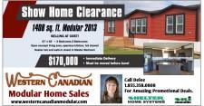 Show Home Clearance 1408 sq. ft. Modular 2013