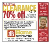 Massive CLEARANCE SALE at Coutts Home Hardware