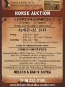 HORSE AUCTION April 21-22, 2017