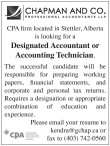 Designated Accountant or Accounting Technician.