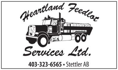 Heartland Feedlot Services Ltd. 403-323-6565 Stettler, AB