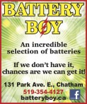 BATTERY BOY: AN INCREDIBLE SELECTION OF BATTERIES