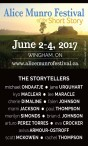 Alice Munro Festival of the Short Story  June 2-4, 2017